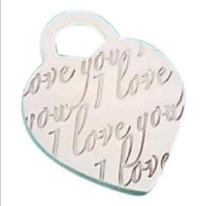 Tiffany notes I love you script necklace pendant